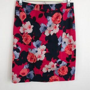 J.Crew | Floral Pencil Skirt